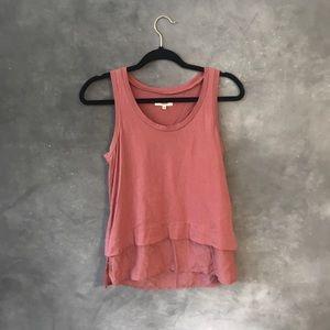Madewell layered tank top size XS